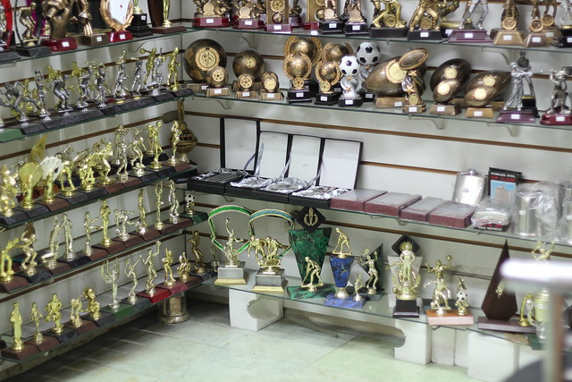 Wednesday: love the light in this trophy shop