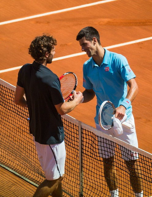 Novak Djokovic and Ernests Gulbis
