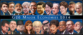 G20 2014 heads of government - Caricatures
