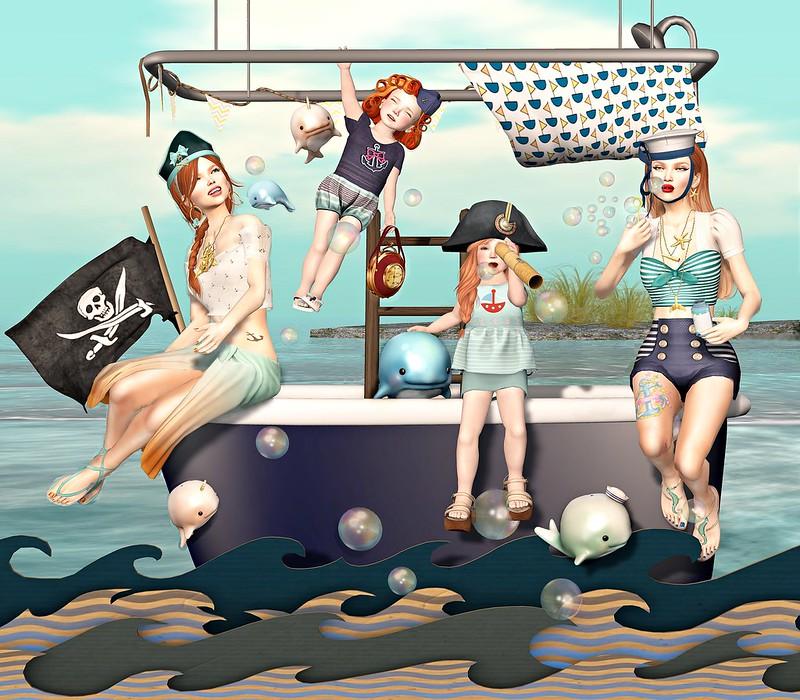 """Amelie et les petites: Episode """"Sea bathing"""""""