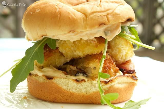 "Chef Craig Flinn's ""Fog Buster"" Scallop Bacon Burger"