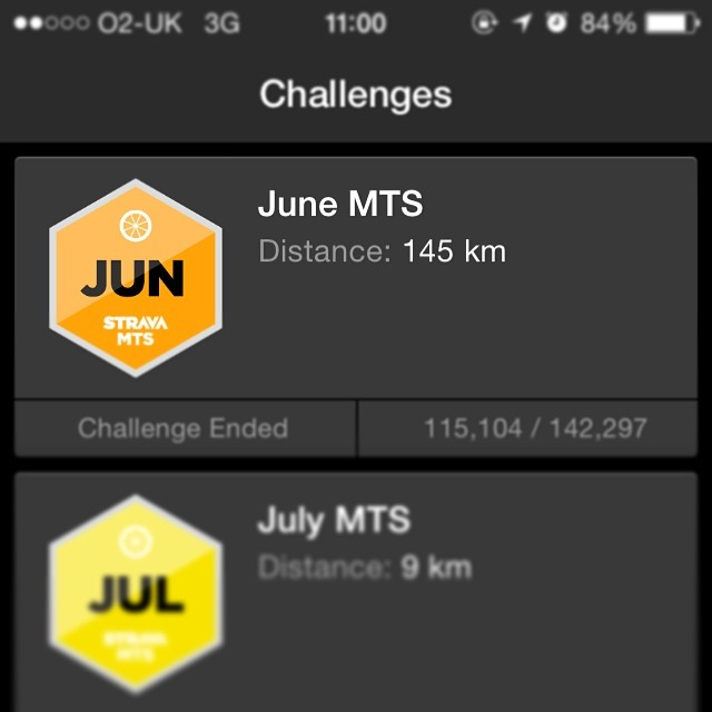 June in kilometres
