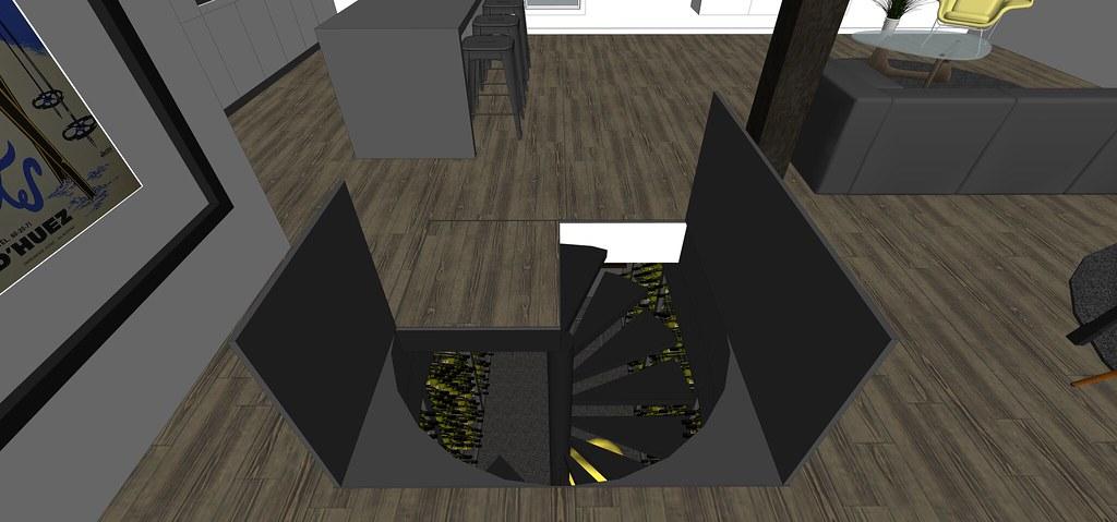 View topic trap door spiral wine cellar in kitchen - Wine cellar trap door ...