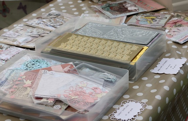 craft fair paper, die cuts and peel offs for sale