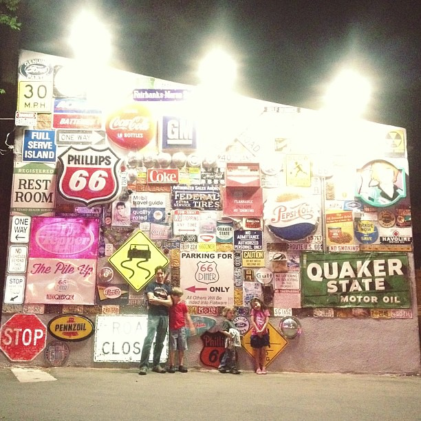 we love this fun wall! #route66 #albuquerque #newmexico