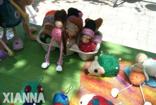 Muñecos de fieltro de Mi corazón de lana Etsy Craft Party Madrid 2013