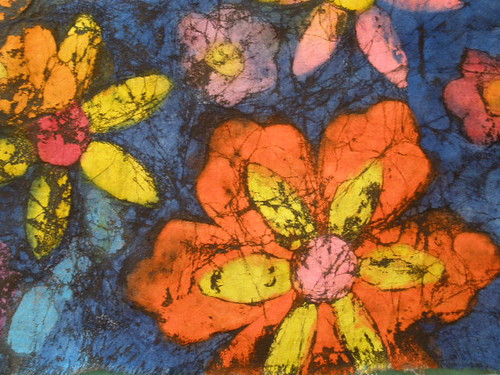 finished crayon batik fabric