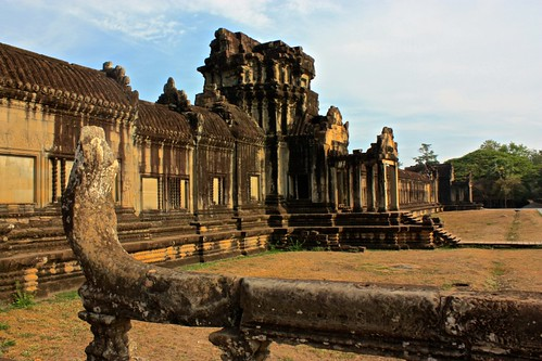 inside the outer wall of Angkor Wat