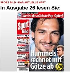 Sport Bild: Hummels rechnet mit Götze ab