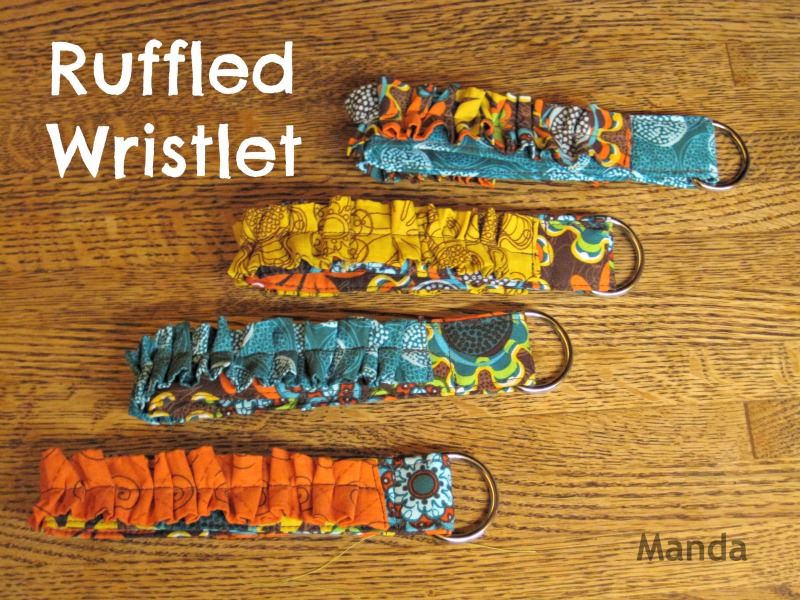ruffled wristlet