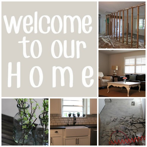 welcome to our home collage