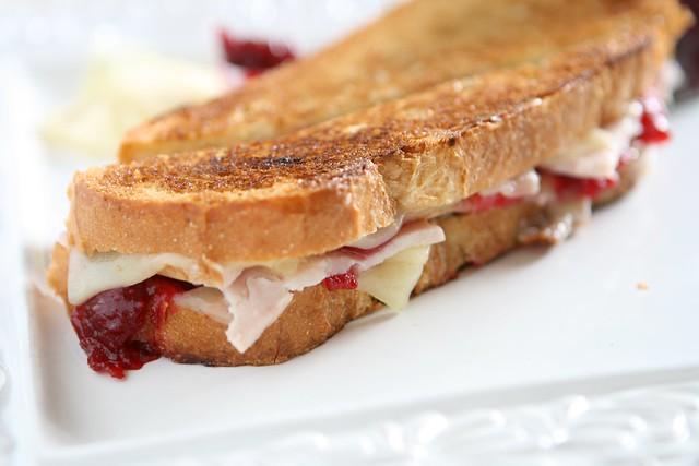 Turkey and Cranberry Grilled Cheese | The Hungry Housewife