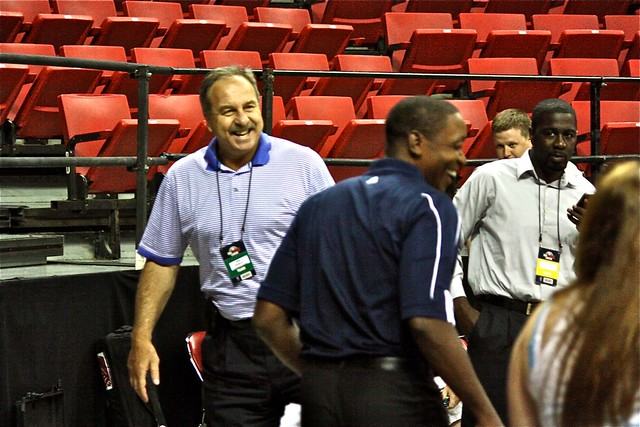 Ernie Grunfeld and Isiah Thomas - 2013 NBA Summer League