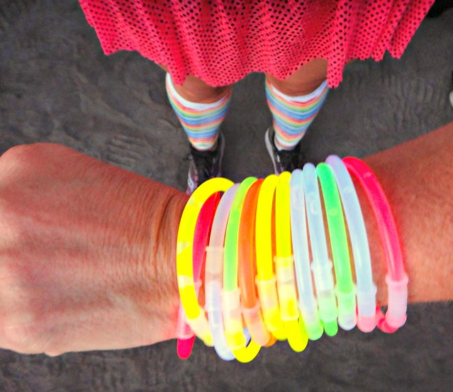 Team Spark Skirt Check; Neon Bracelets Check