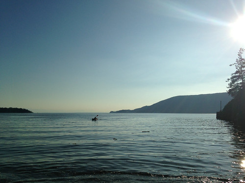 Marc kayaking on the Howe Sound