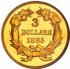 1885 $3 reverse