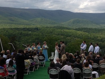 Take the Quad Chairlift to Serene Mountain Top Ceremony!