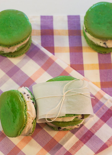 French Macaron Ice Cream Sandwiches #icecreamweek