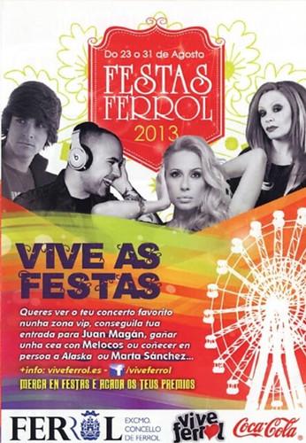 Ferrol 2013 - Festas do Verán - cartel