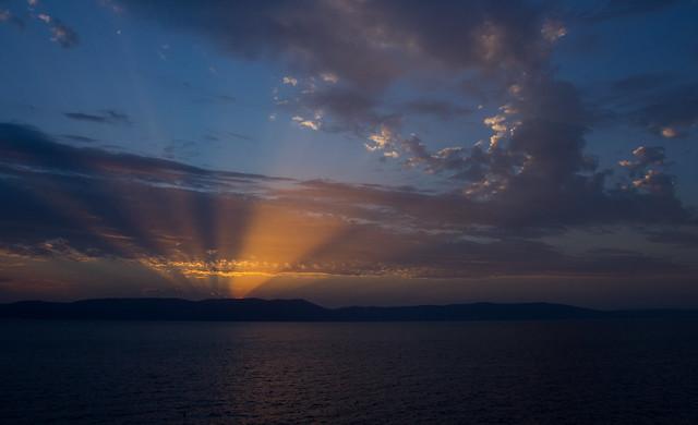 dramatischer Sonnenaufgang