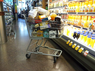 Full cart at Whole Foods