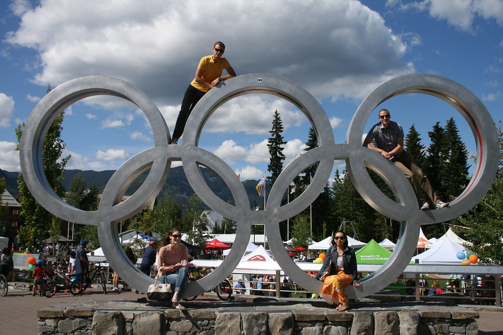 Olympic Rings Whistler Vancouver BC
