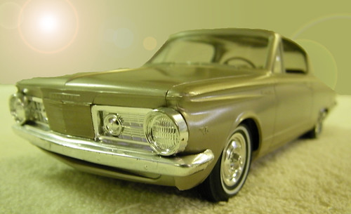 1964 Plymouth Barracuda Promo Model Car - Medium Beige Poly