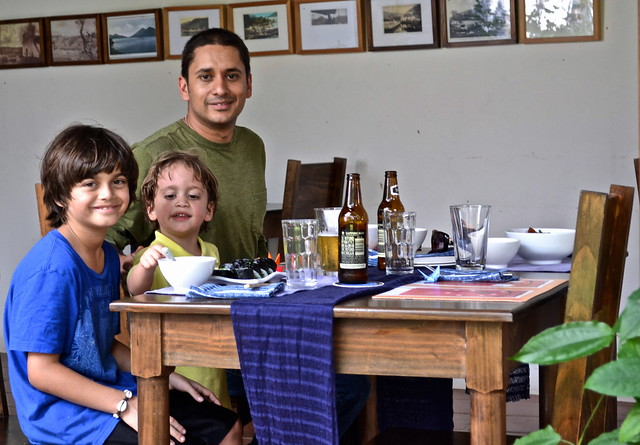 Family Fun Eating Out, Lake Atitlan, Guatemala