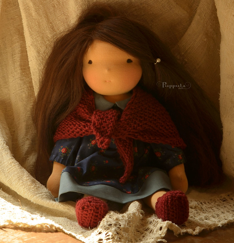 "Smilja,  15"" waldorf inspired doll"