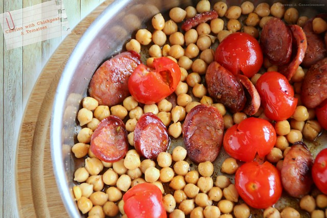 Chorizo with Chickpeas & Tomatoes 1