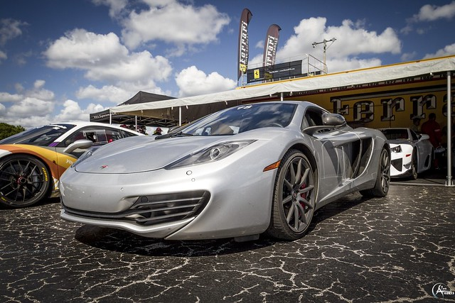 McLaren MP4-12C on the blacktop