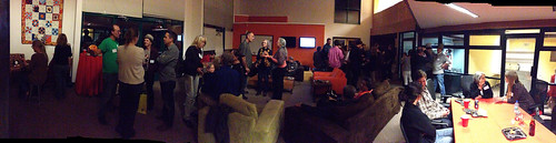 Panorama of Dkos HQ event.