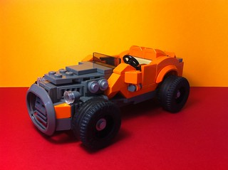 Orange Hot rod...