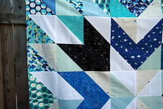 Constellations star quilt top