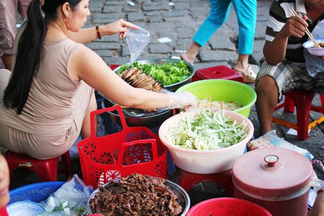 making street food in Vietnam
