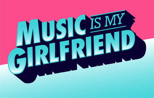 Music Is My Girlfriend (Sticker)