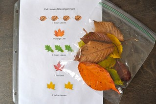 Fall Leaves Scavenger Hunt