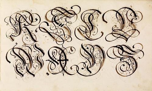013-Kalligraphische Schriftvorlagen- 1626-1634- Johann Hering- Staatsbibliothek Bamberg