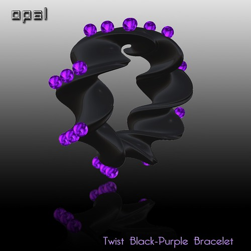 Twist black-purple Bracelet