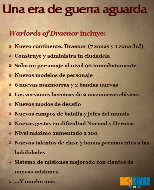 Contenido para World of Warcraft: Warlords of Draenor
