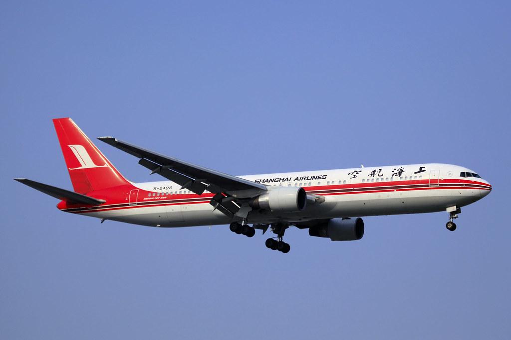 B-2498 - Shanghai Airlines - Boeing 767-36D - SHA