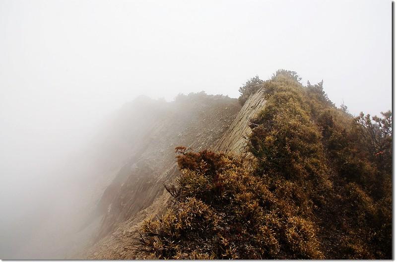 本鄉山東側崩壁