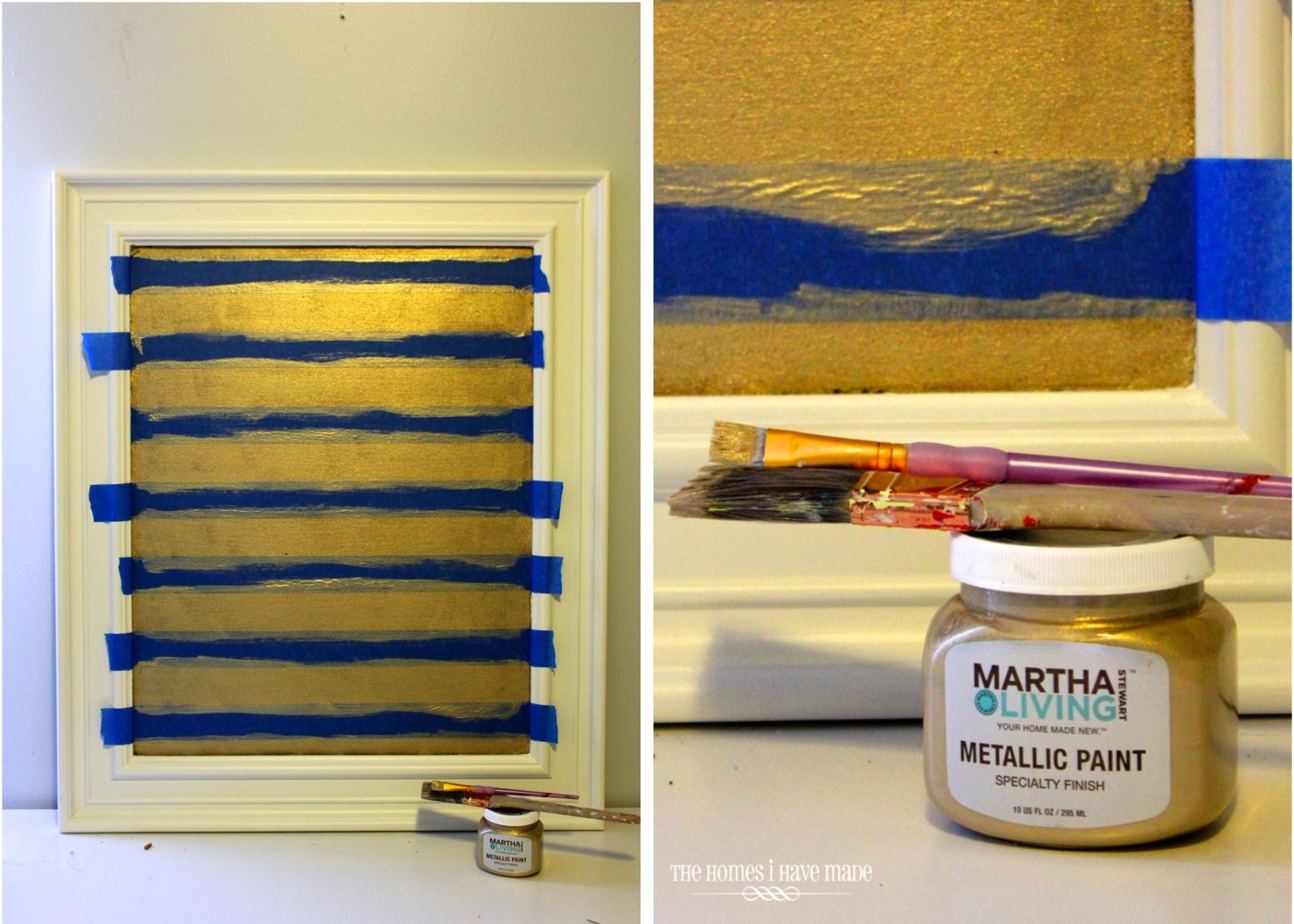 Gold-Striped Cork Board 6