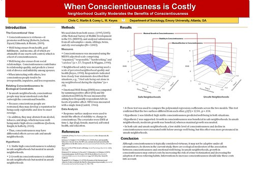 When conscientiousness is costly