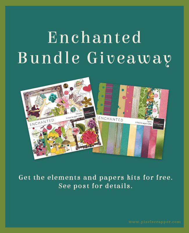 Enchanted Bundle Freebie from Pixel Scrapper