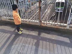 朝の跨線橋 2013/11