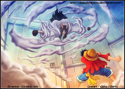 [One Piece] Luffy Vs Caesar