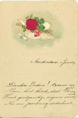 Archief Drees, Nieuwjaarswens Jansje 1889 / Archive Drees, New Year wishes Jansje