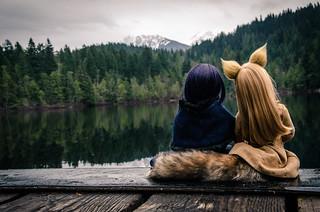 Horo & Alice @ Mosquito Lake, British Columbia