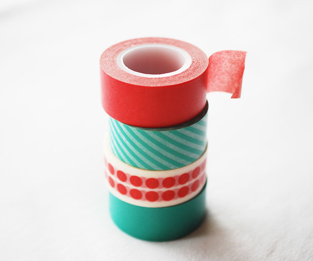 25 crafts of christmas // washi tape